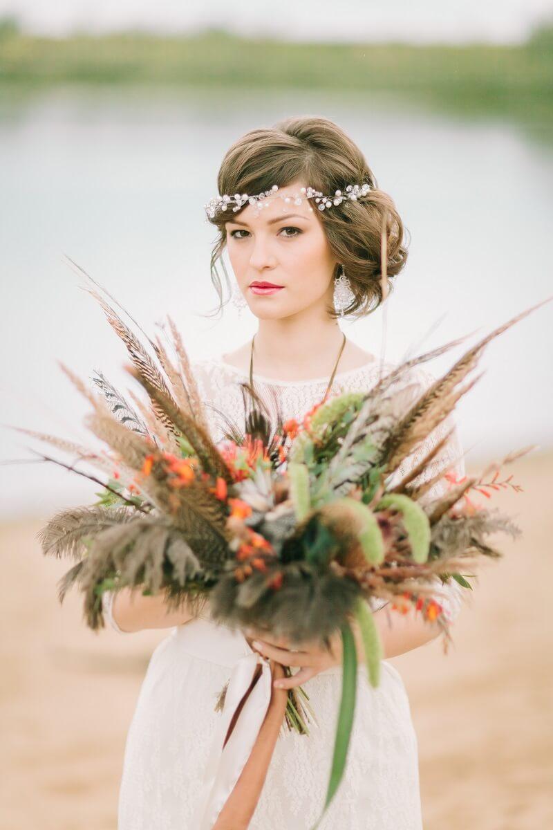 Brautfrisur seitlicher Dutt