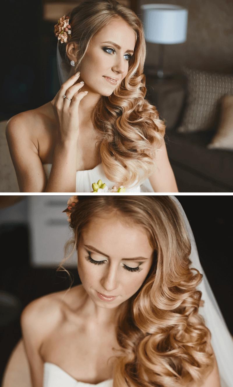 Brautfrisur offen seitlich
