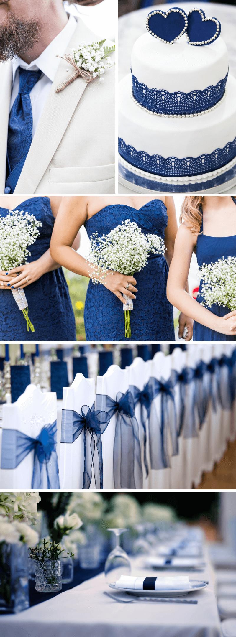Hochzeit Dunkelblau Ideen