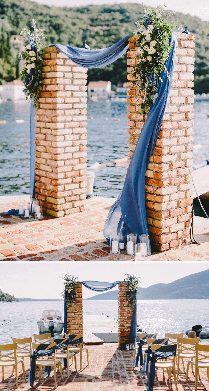 Trauung | Hochzeit in Dunkelblau
