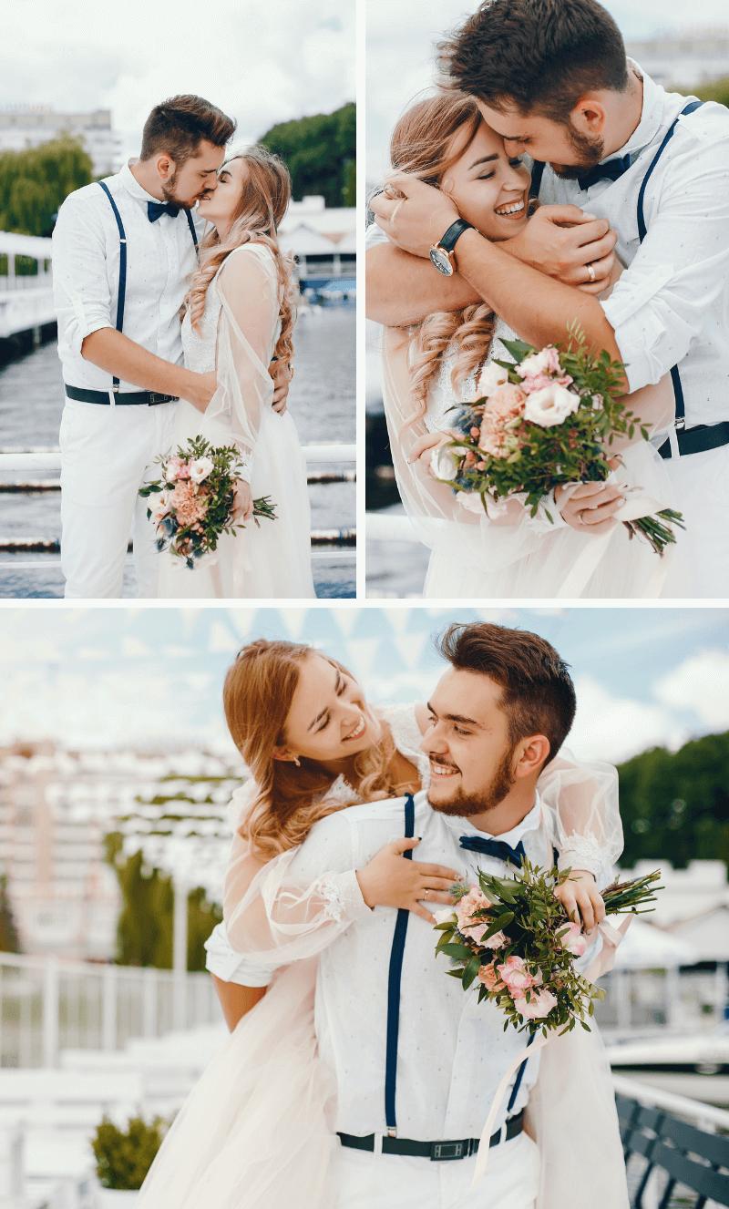 Hochzeit in Dunkelblau