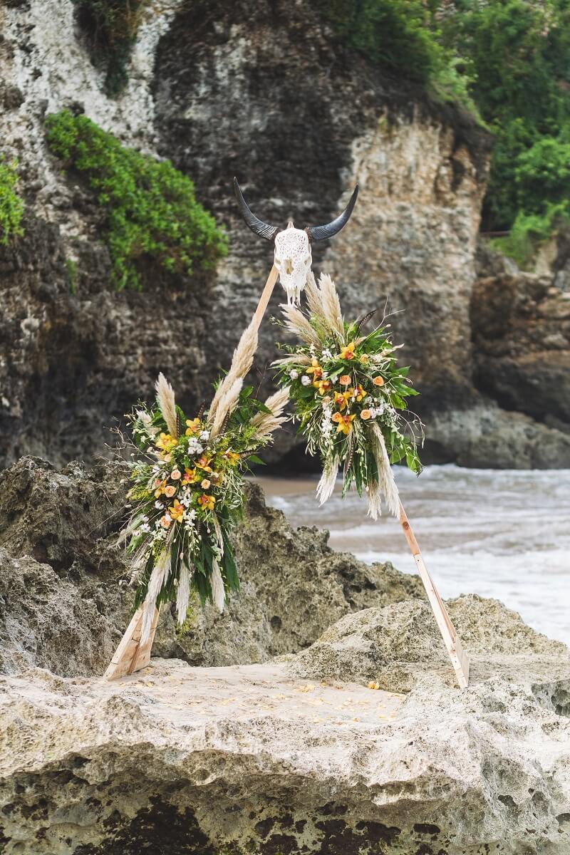 Boho Hochzeitsbogen Pampasgras