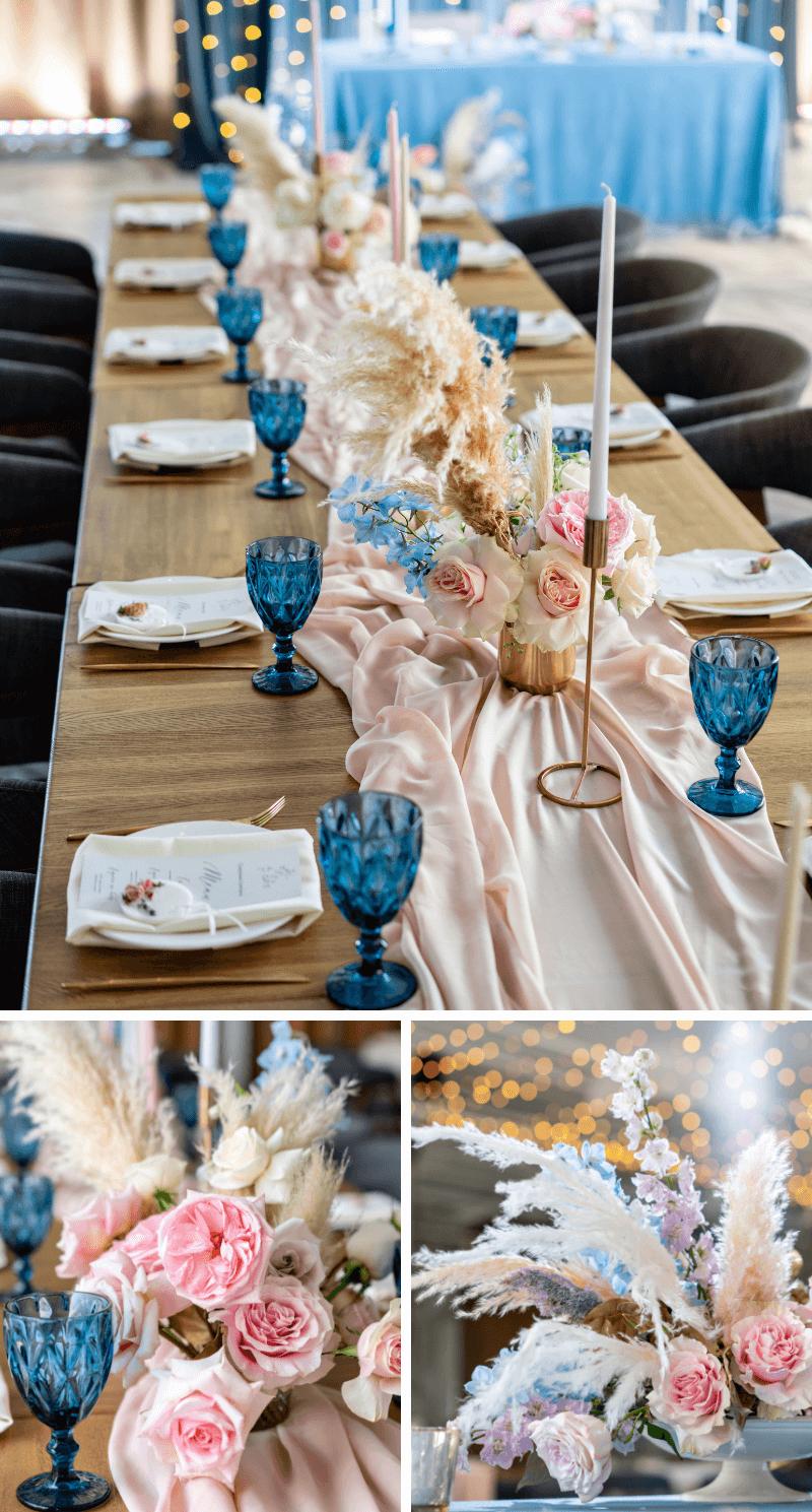 Hochzeit Tischdeko Pampasgras