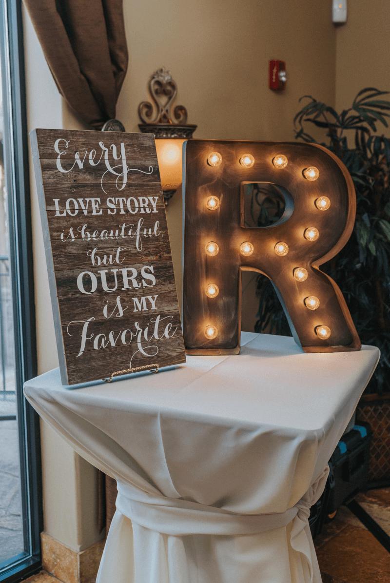Holzschild Vintage Hochzeit