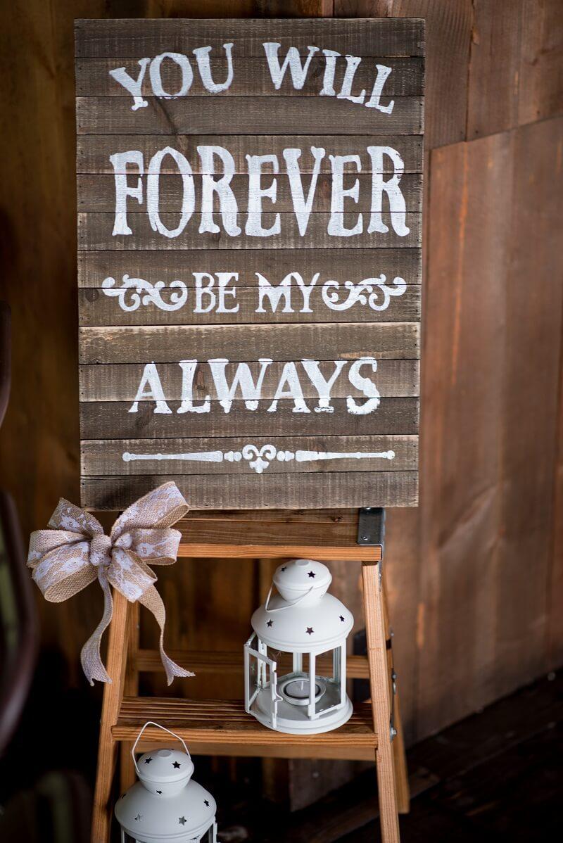 Holzschild Vintage Hochzeit, Hochzeitsspruch