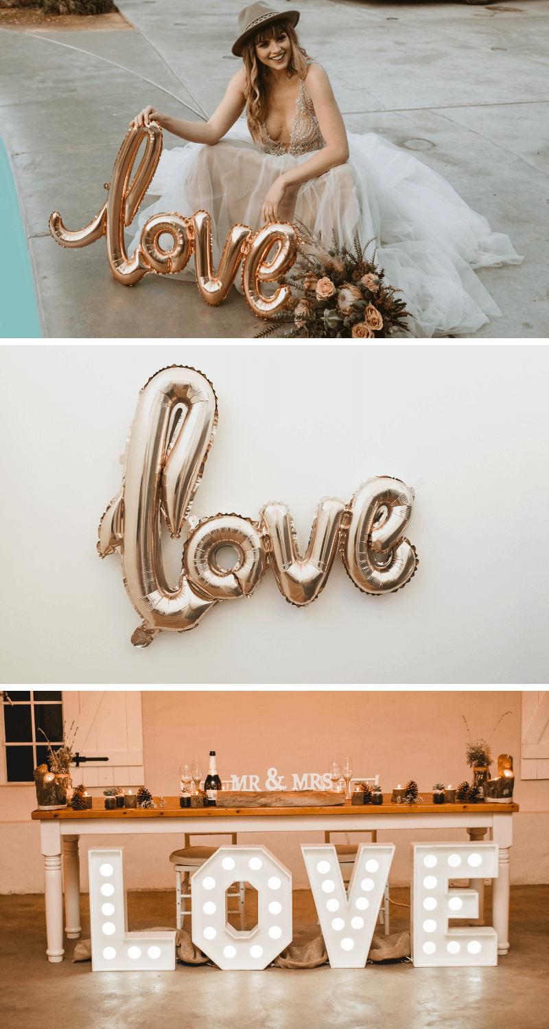 Hochzeit Schriftzug