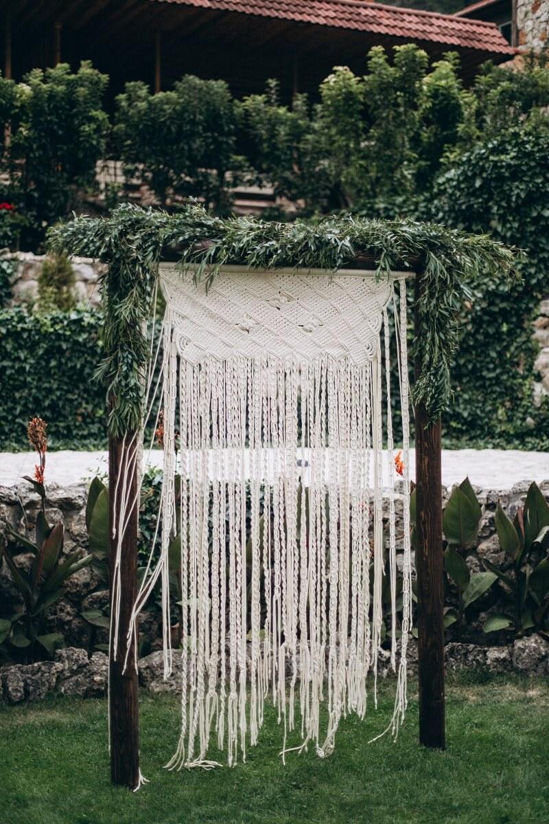Hochzeitsbogen Boho Makramee