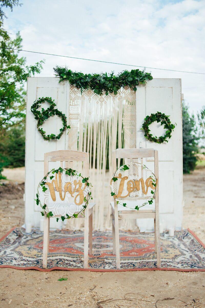 Boho Hochzeit, Makramee Hochzeitsbogen