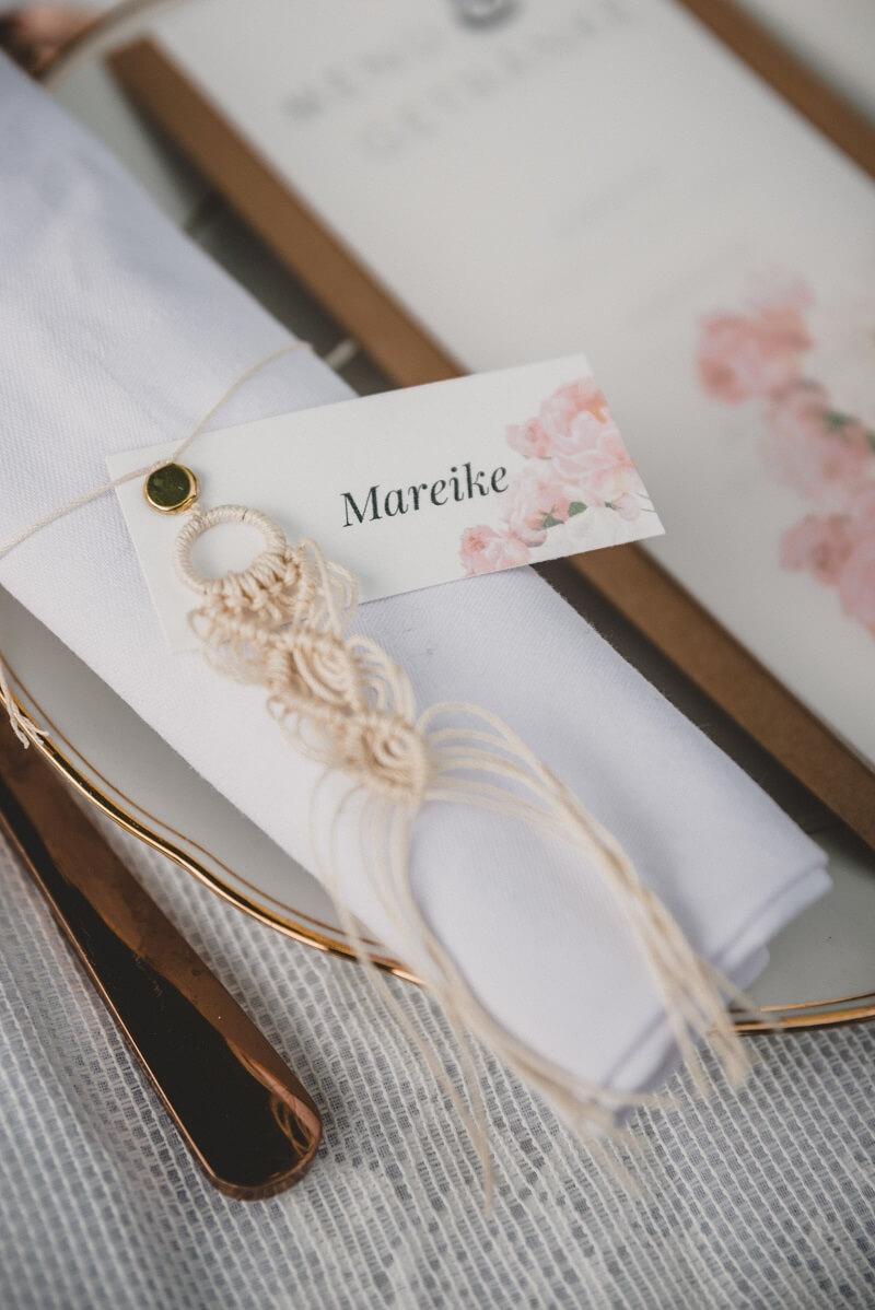 Makramee Schlüsselanhänger, Gastgeschenk Hochzeit