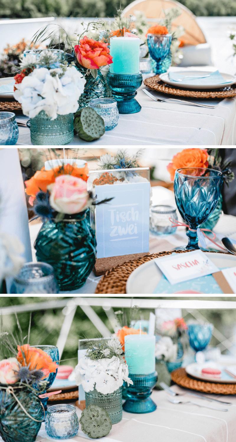 Tischdeko Hochzeit Sommer
