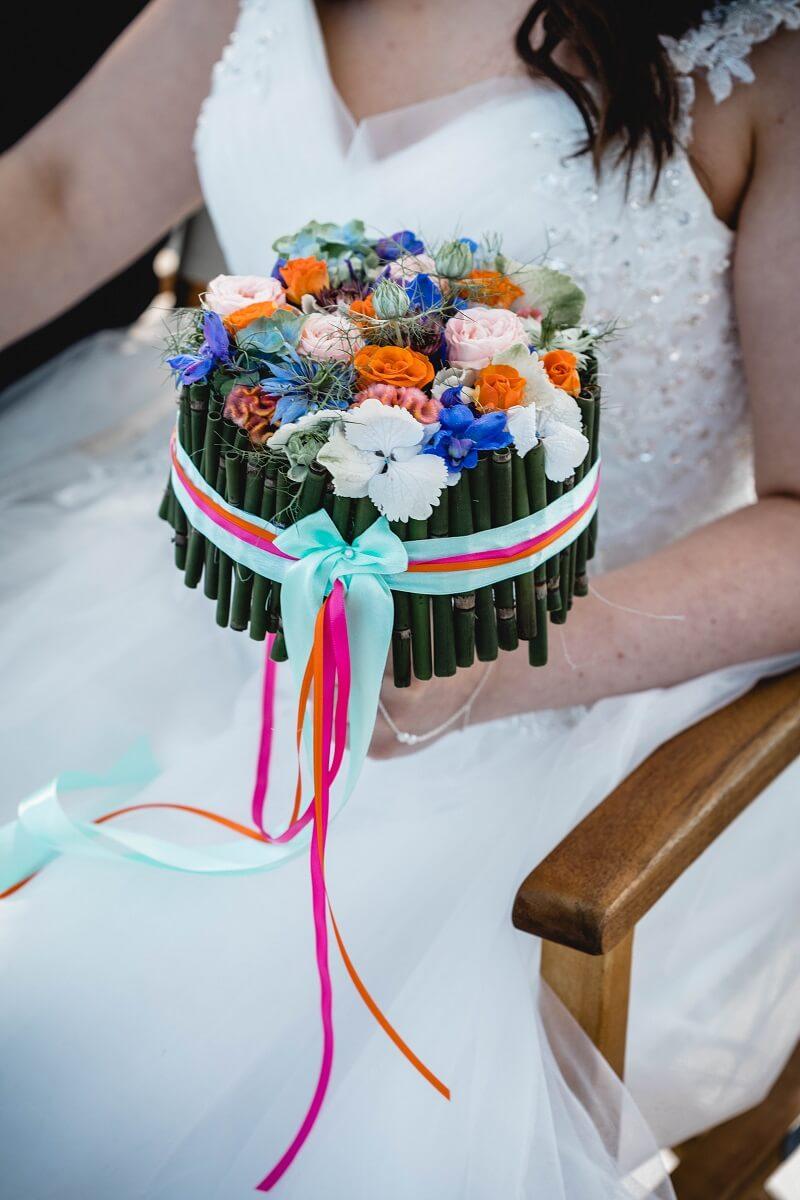 Brautstrauß originell, Sommerhochzeit
