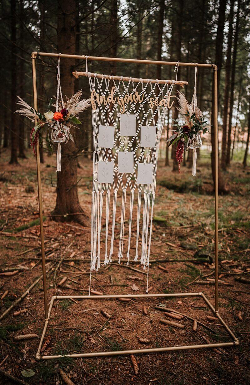 Makramee Sitzplan Hochzeit