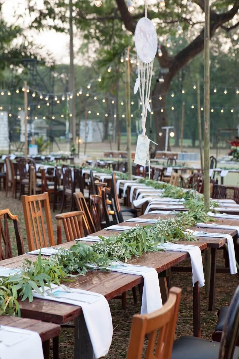 Tischgirlande Tischdeko Hochzeit