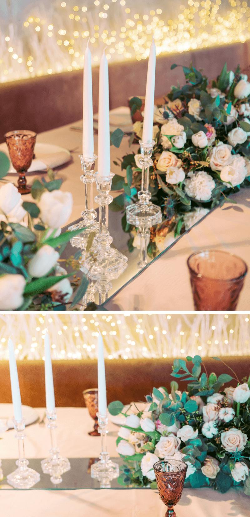 Tischdeko Hochzeit Spiegel