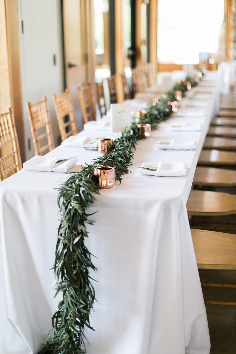 Tischdeko Hochzeit grün, Greenery Hochzeit