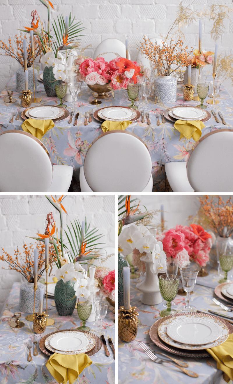 Tischdeko Hochzeit bunt