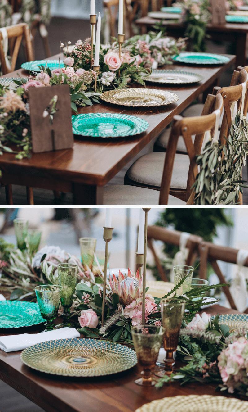 Blumendeko Hochzeit, Tischdeko