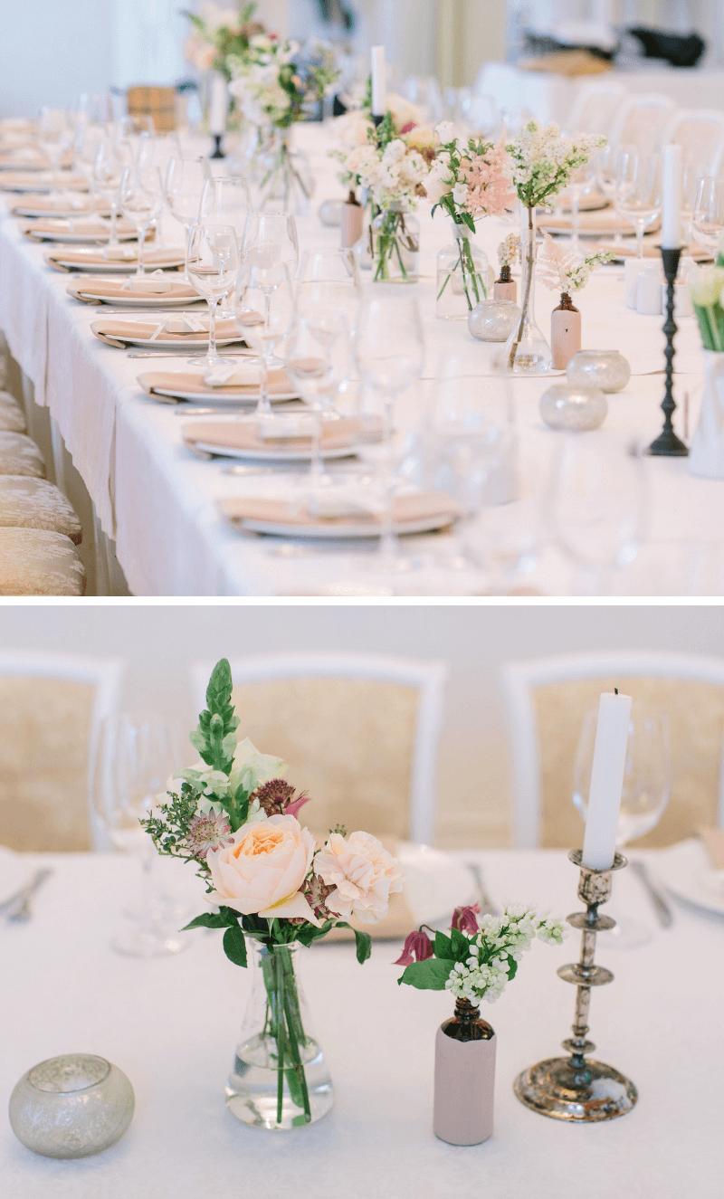 Tischdeko Hochzeit dezent