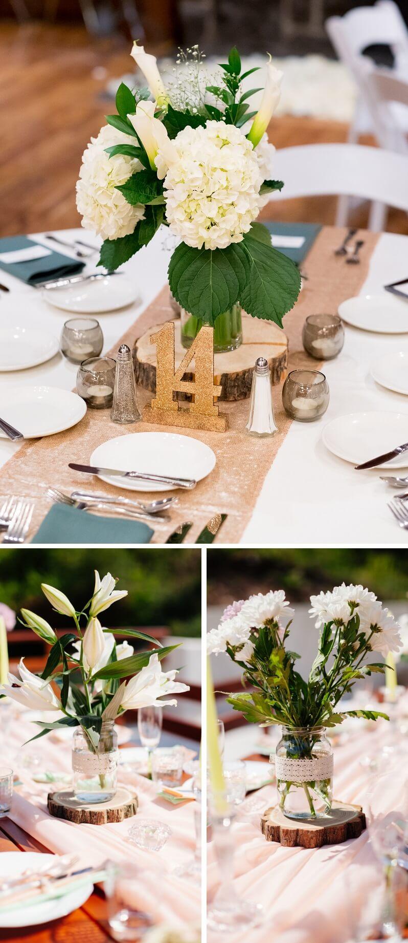 Tischdeko Hochzeit Baumscheiben
