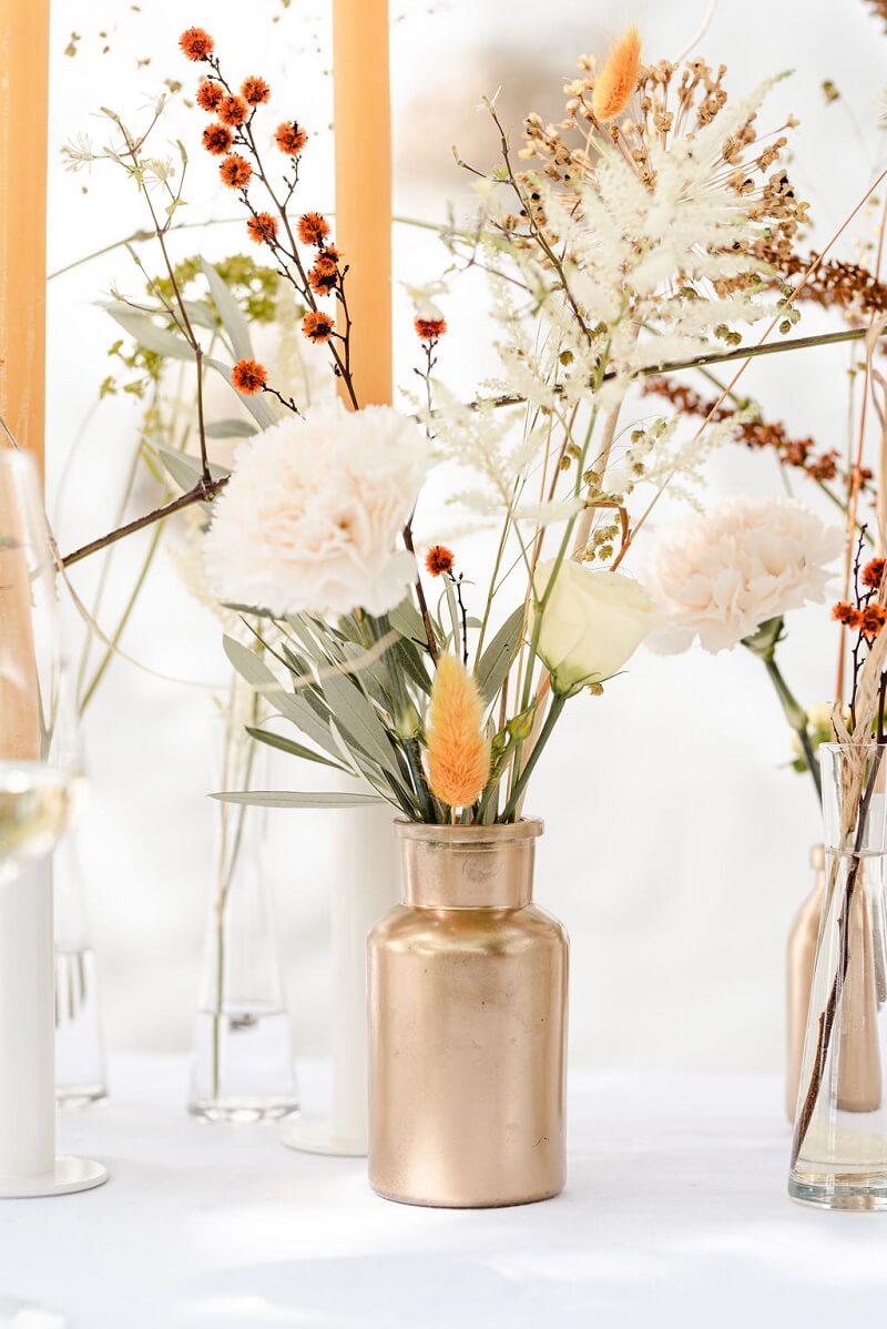 Tischdeko natürlich, Hochzeitsdeko Naturtöne