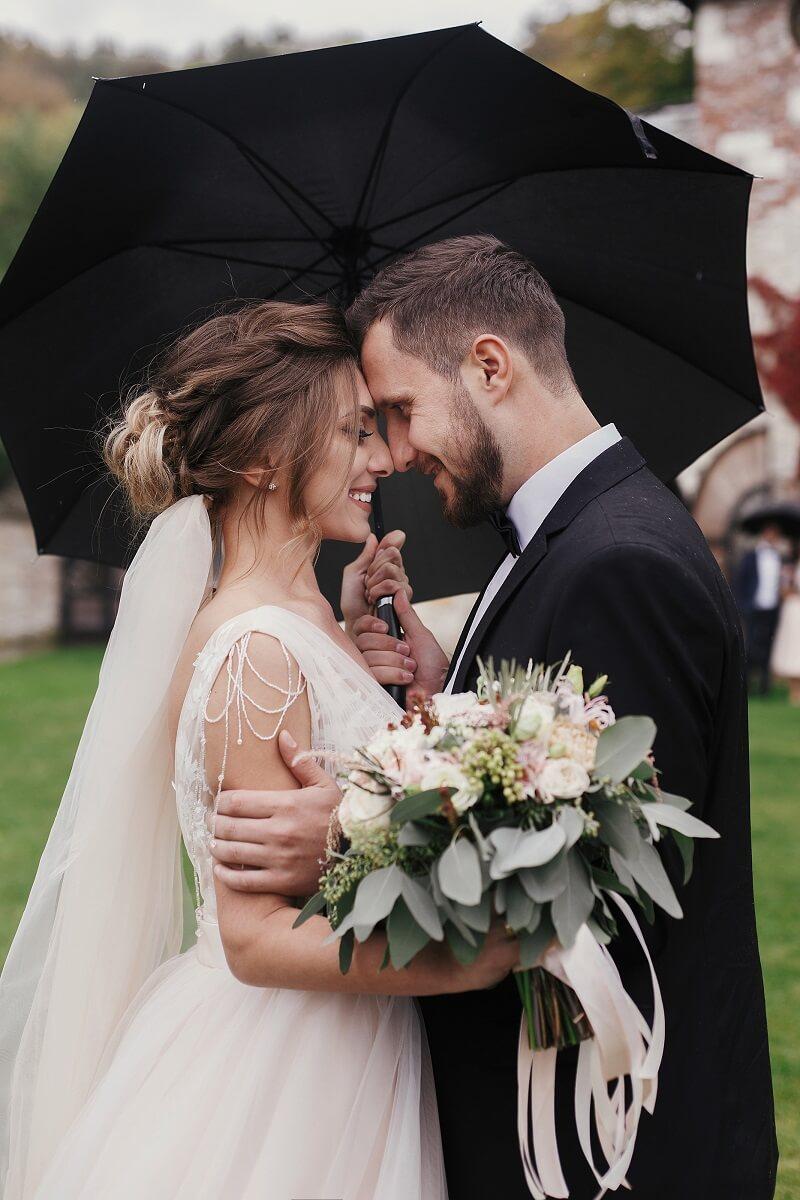 Hochzeit Fotoshooting im Regen