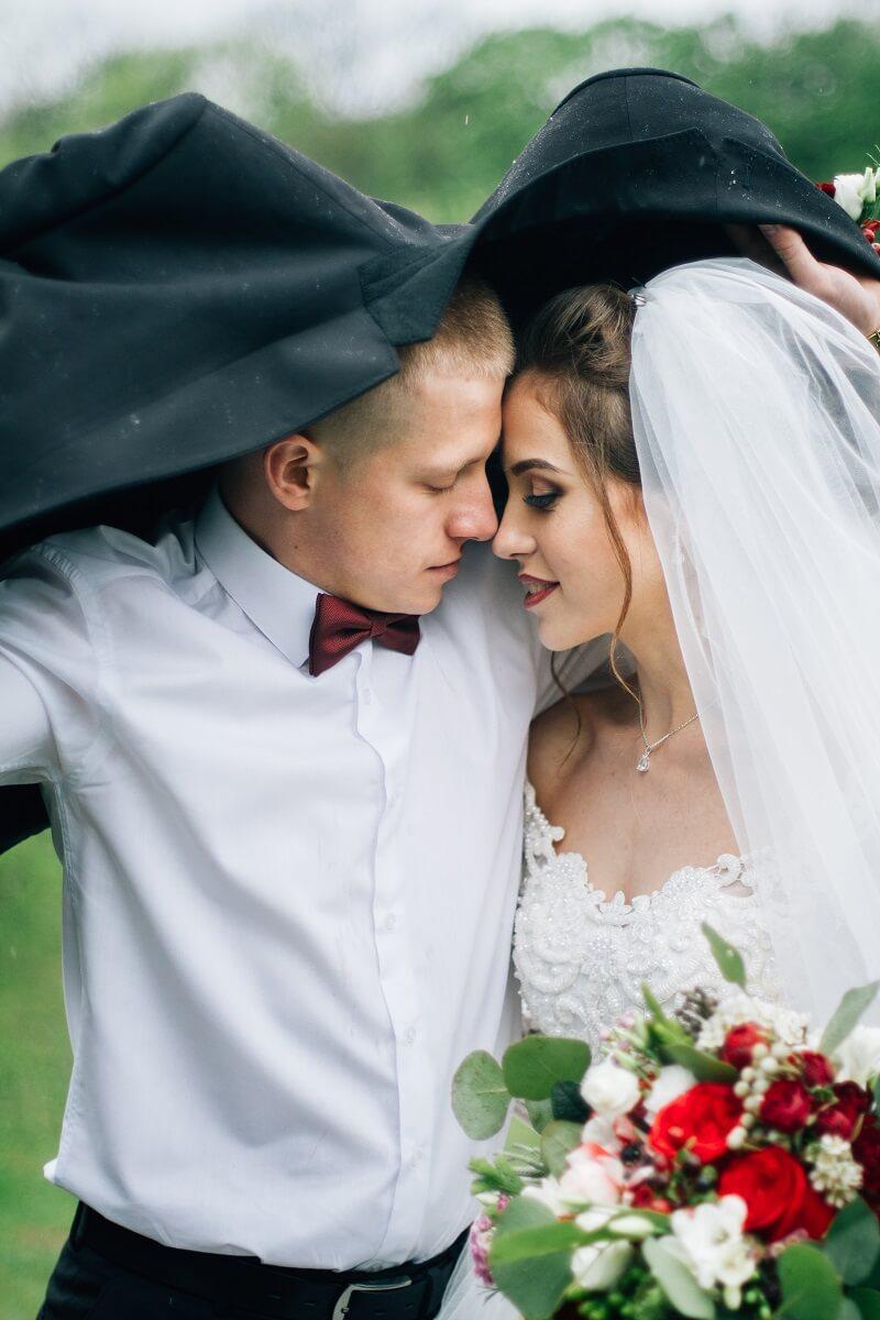 Hochzeitsfotos im Regen Ideen