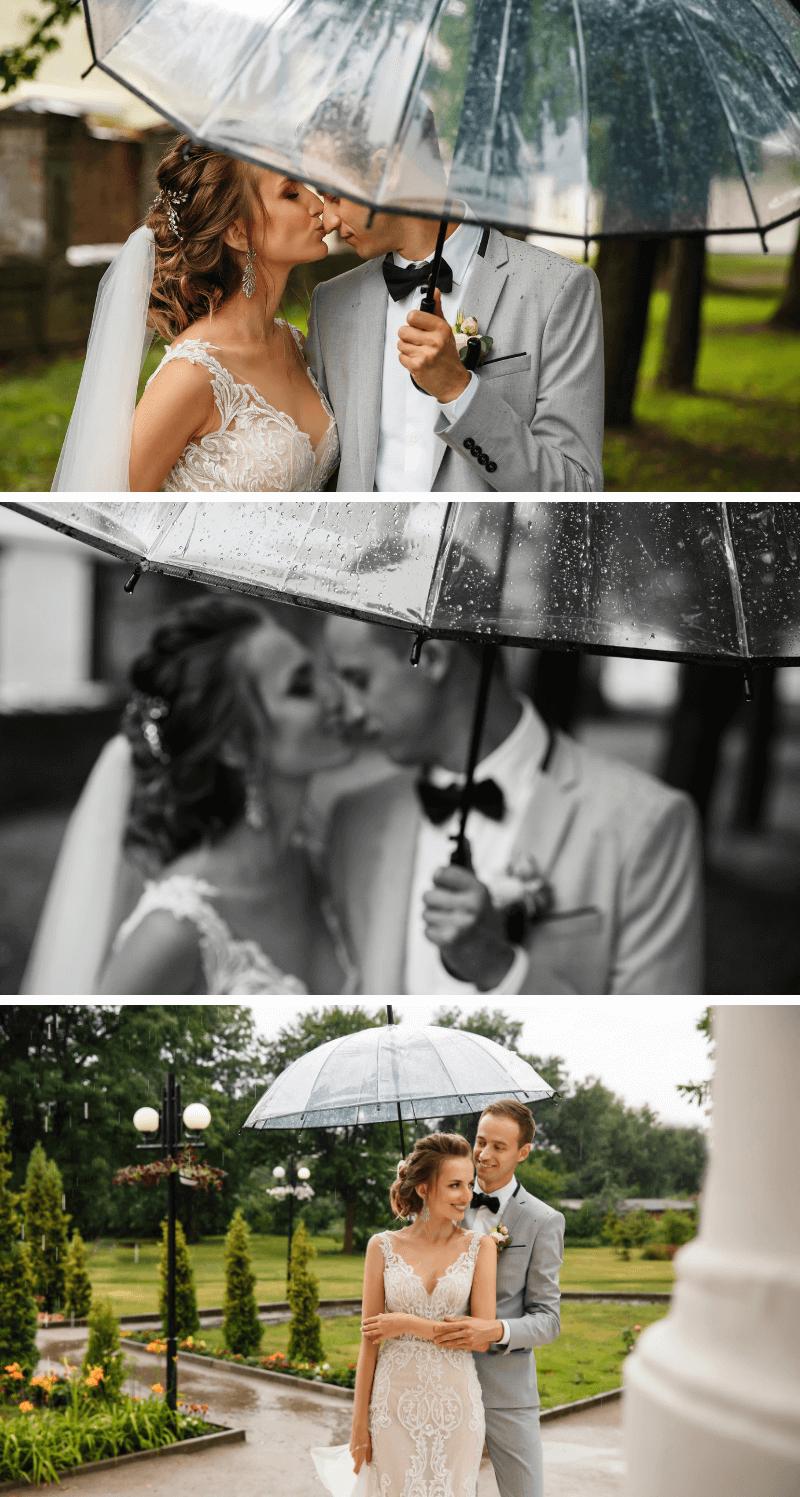 Hochzeitsfoto Ideen mit Schirm, Regenschirm Hochzeitsfotos