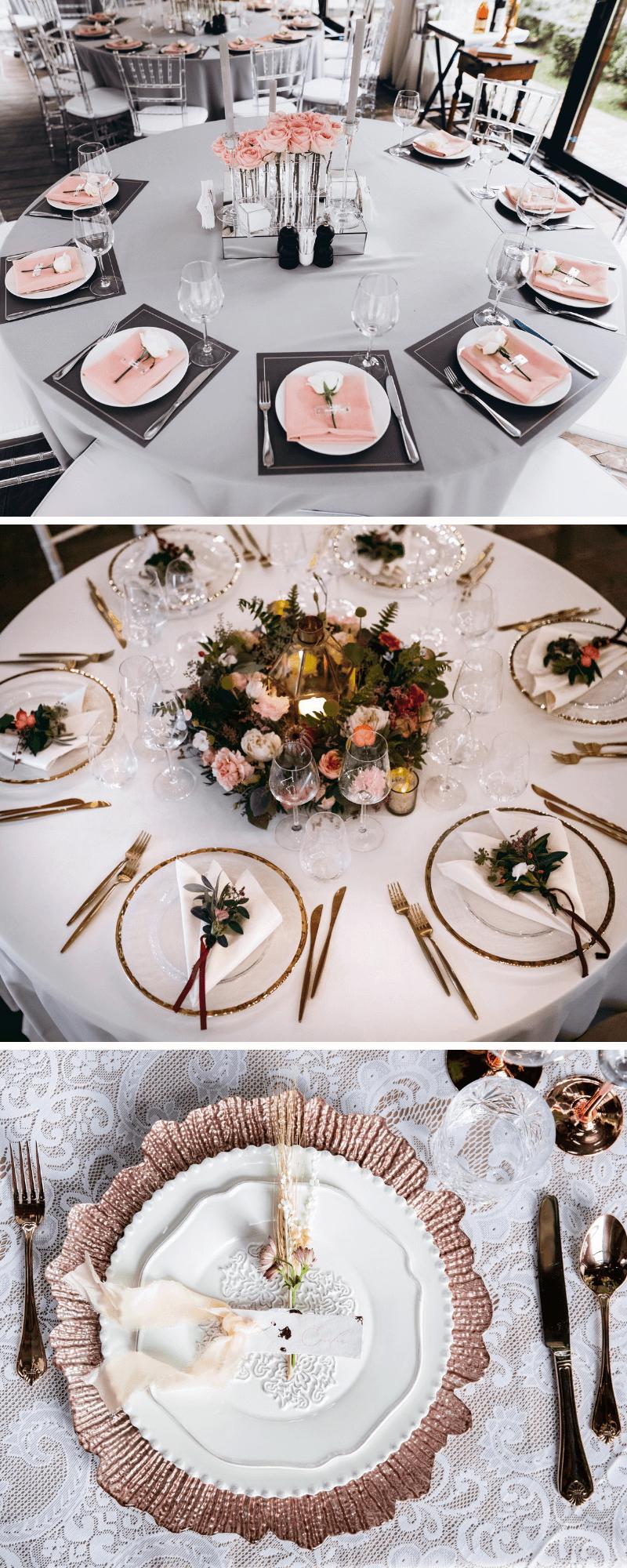 Dekoration Teller Hochzeit