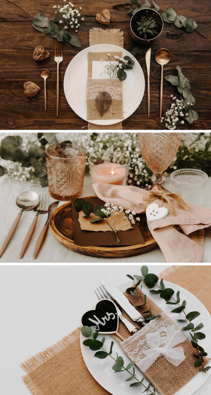 Tischdeko Hochzeit Vintage, Platzdeko Vintage