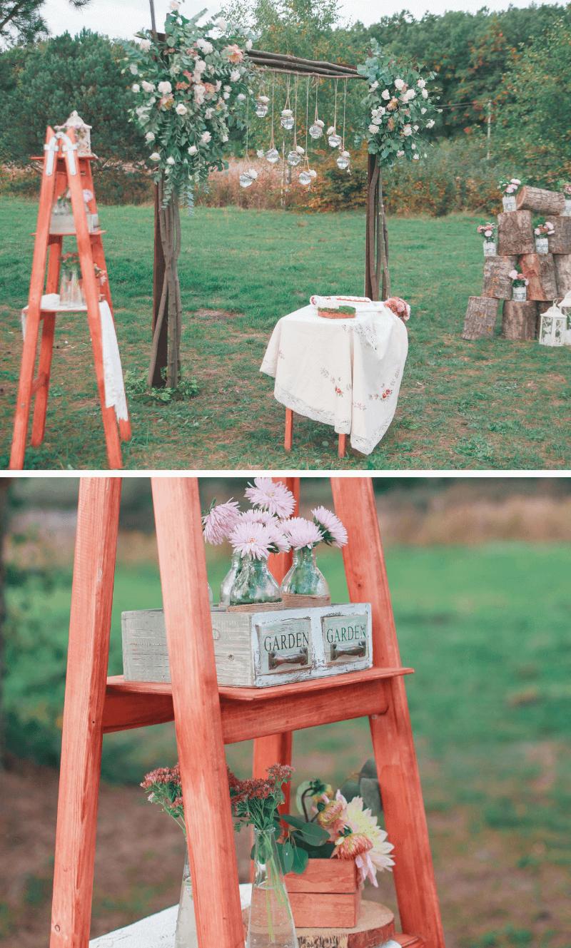 Trauung rustikale Hochzeit