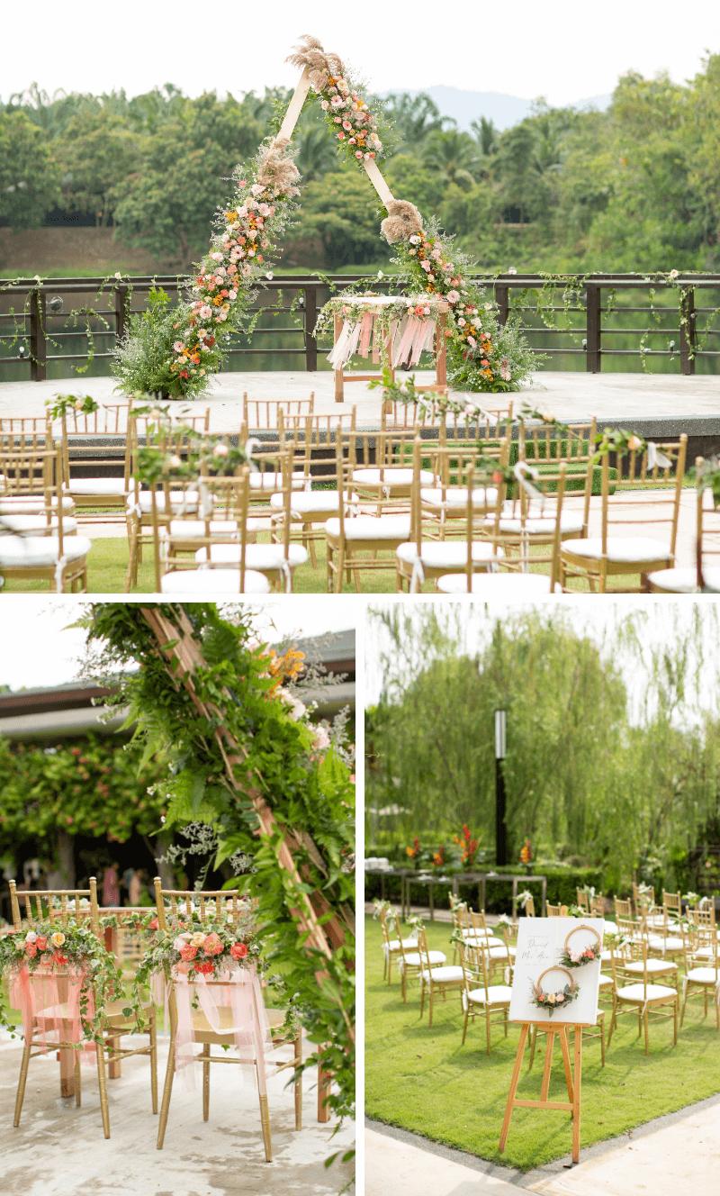 Boho Hochzeit, Trauung im Freien