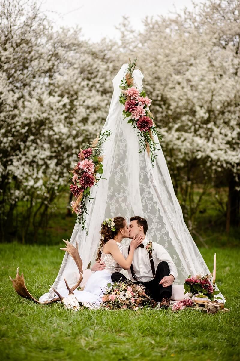 Boho Zelt Hochzeit