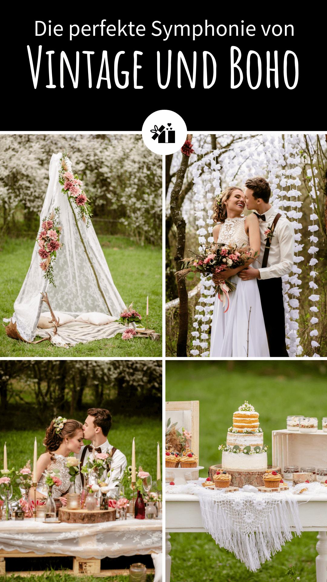Boho und Vintage Hochzeit