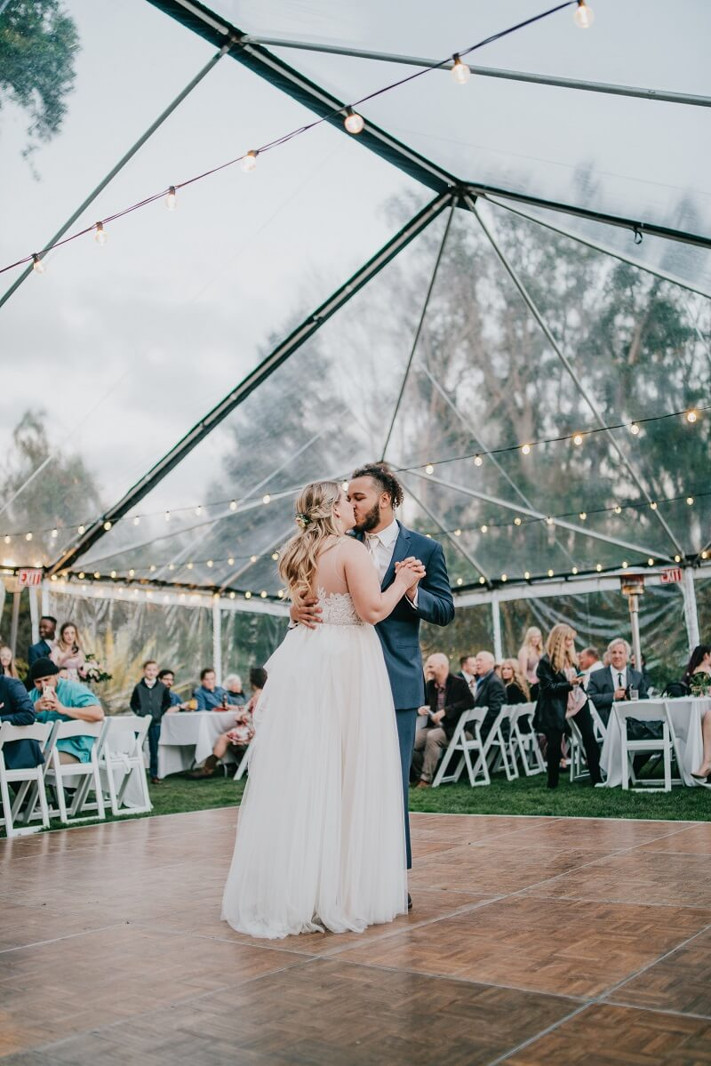 Hochzeitszelt transparent