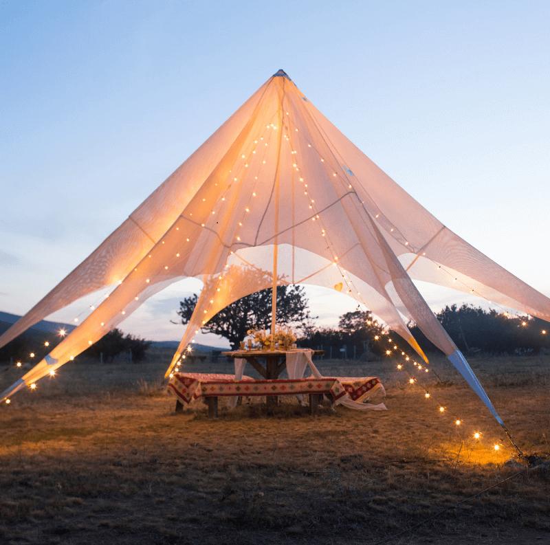Hochzeitszelt Beleuchtung