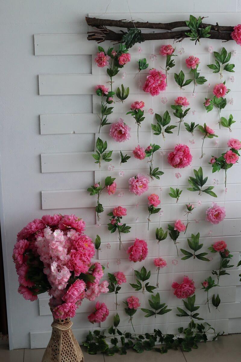 Blumenwand Hochzeit Ideen
