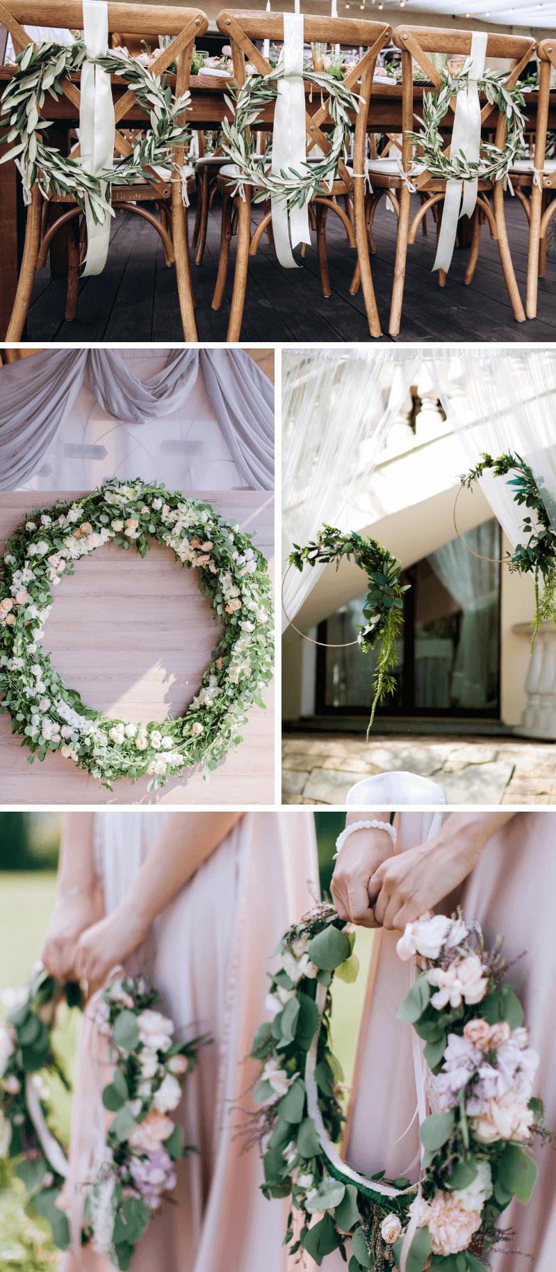 Wedding Hoops, Blumenkranz Hochzeit Deko