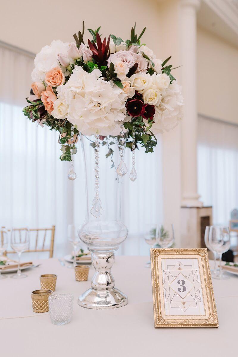 Tischdeko 20er jahre Hochzeit
