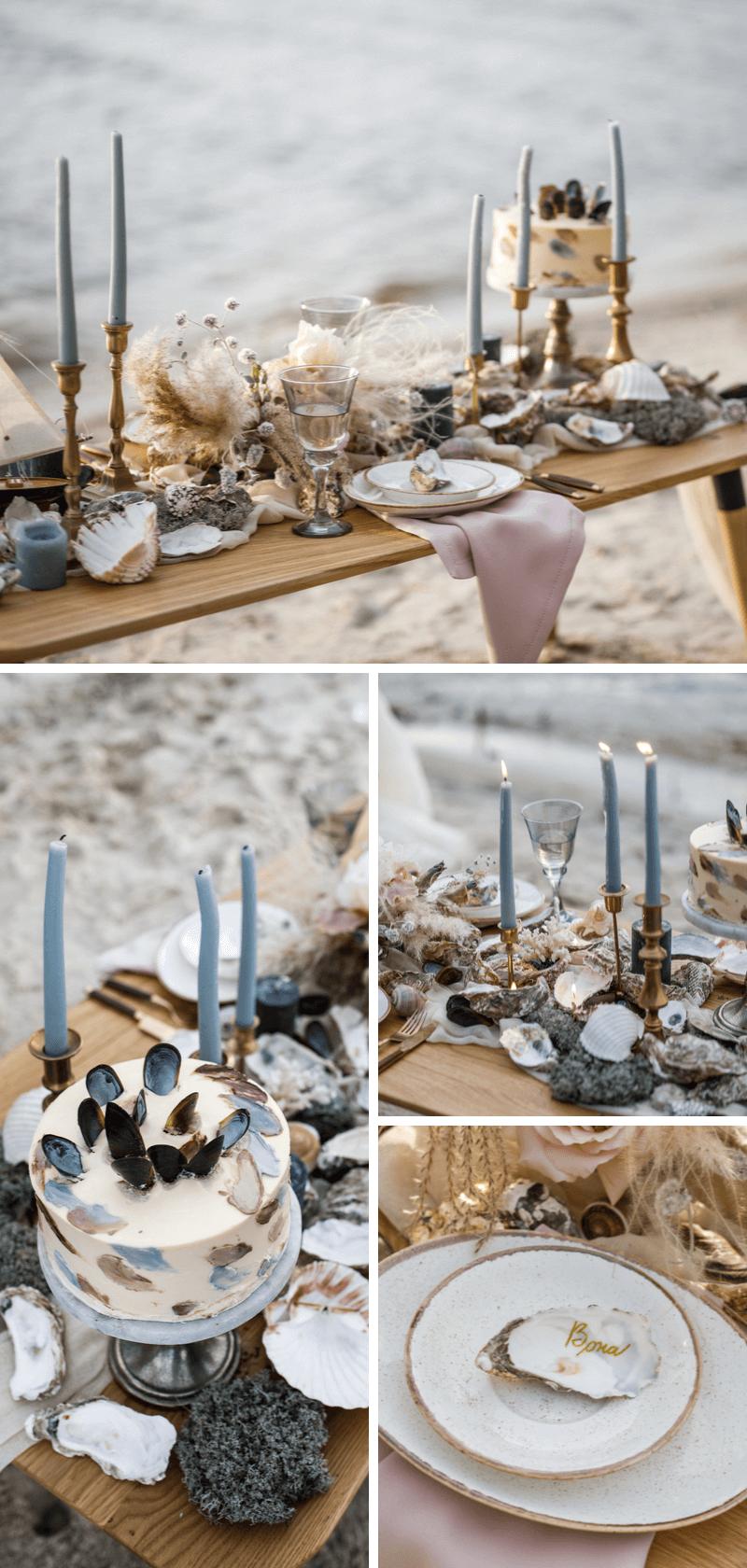 Hochzeitskonzept maritime Strandhochzeit