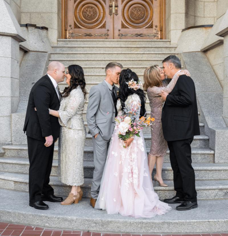 Gruppenfoto mit Eltern
