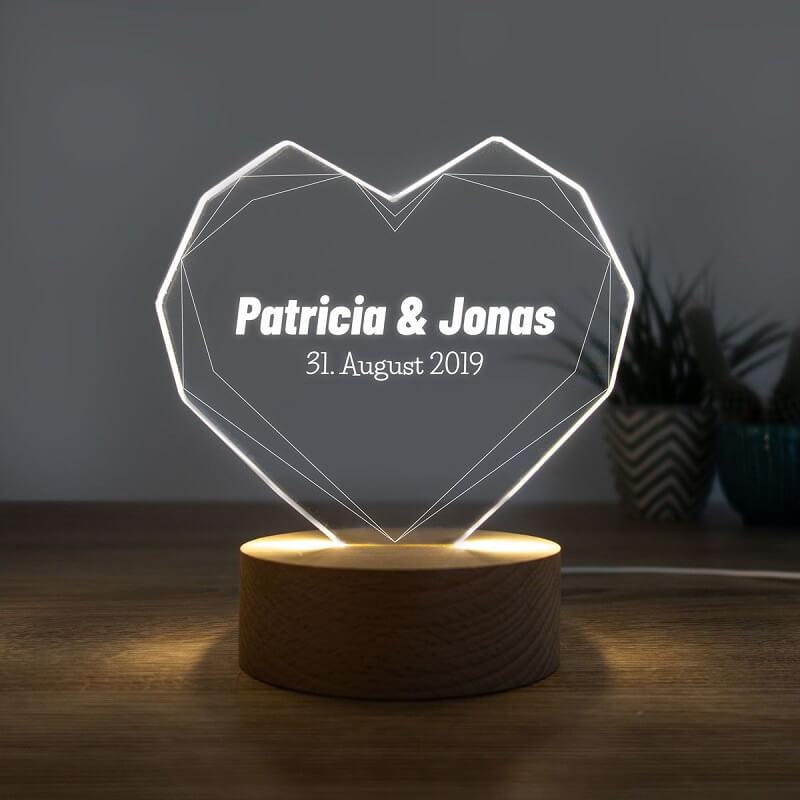 Personalisierte Hochzeitsgeschenke, Lampe