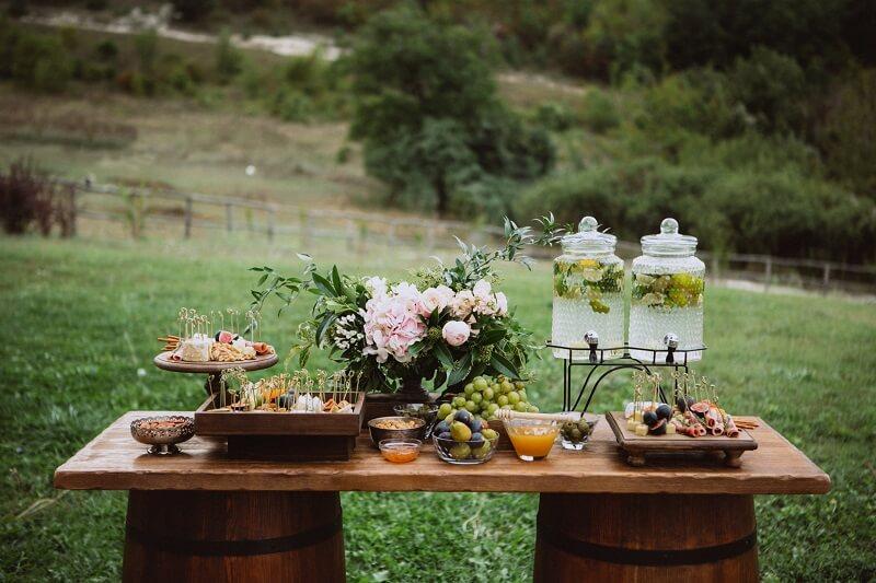 Empfang Hochzeitsgäste