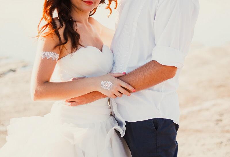 Braut Accessoires White Henna
