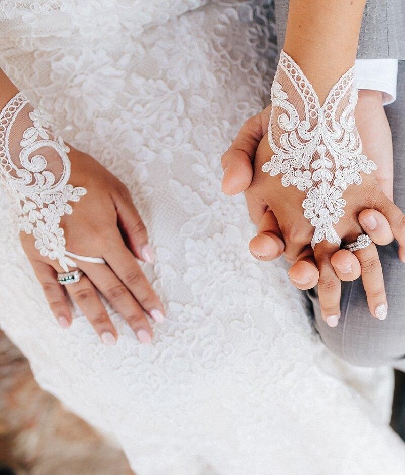Braut Accessoires Handschuhe