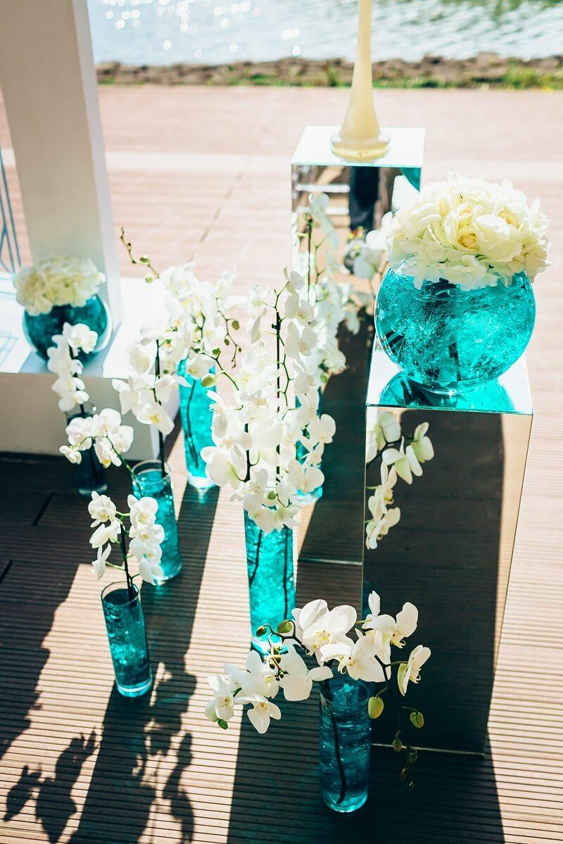 Hochzeitsdeko mit Orchideen