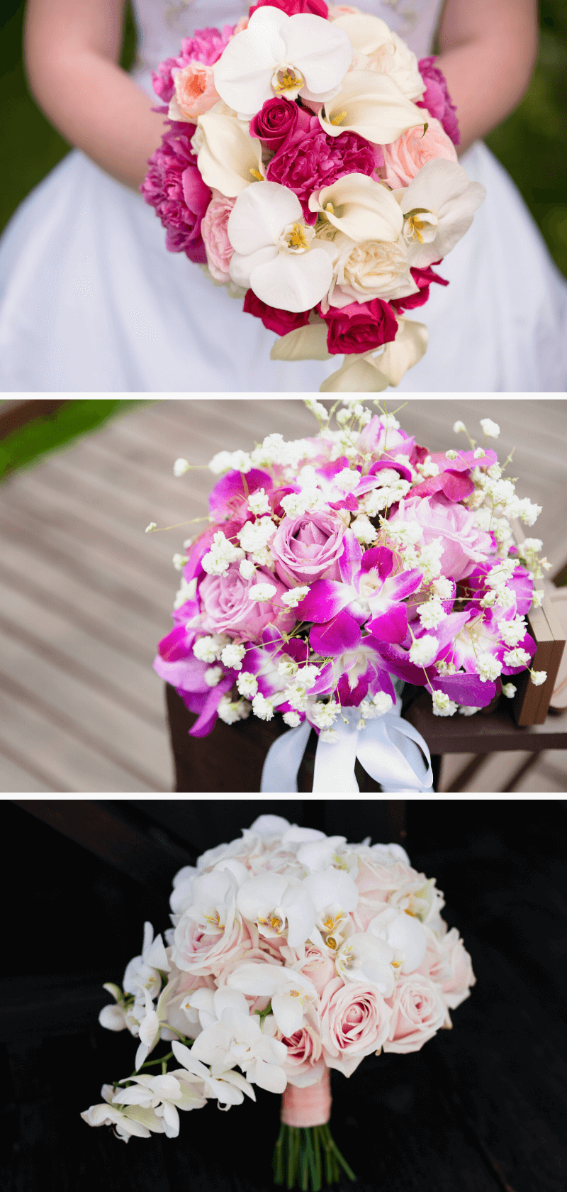 Orchideen Brautstrauß