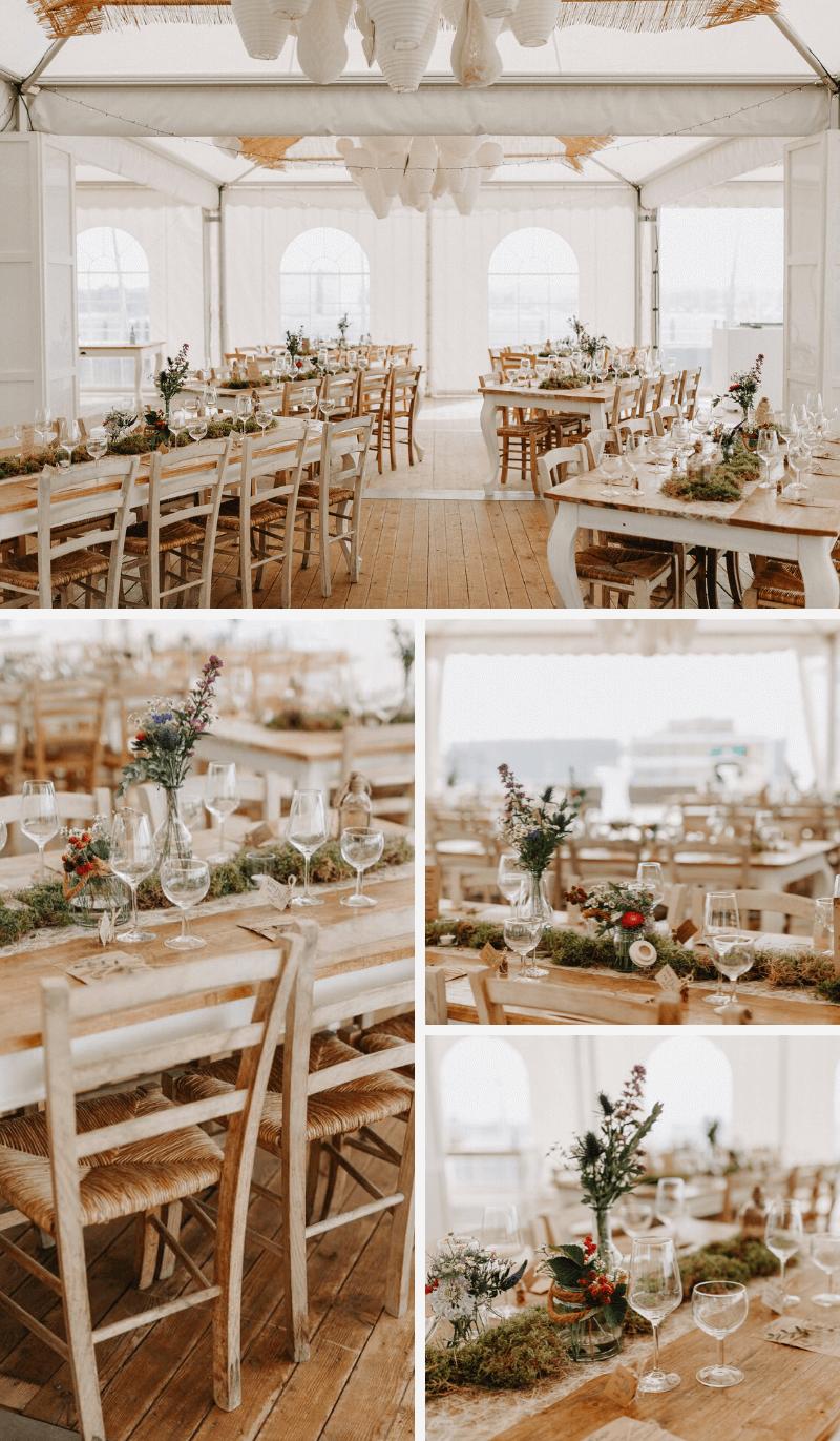 Hochzeit Tischdeko natürlich