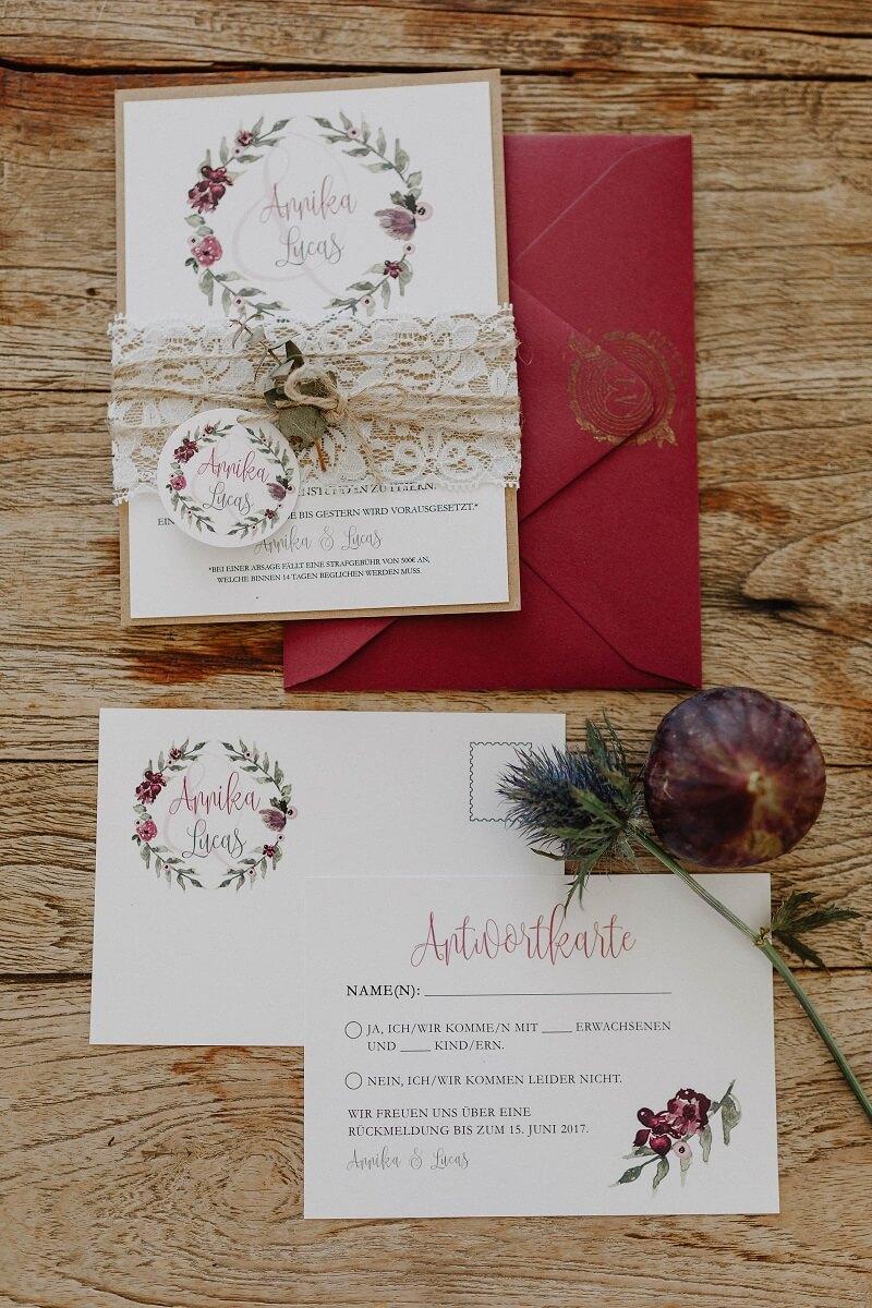 Hochzeitskarten Boho