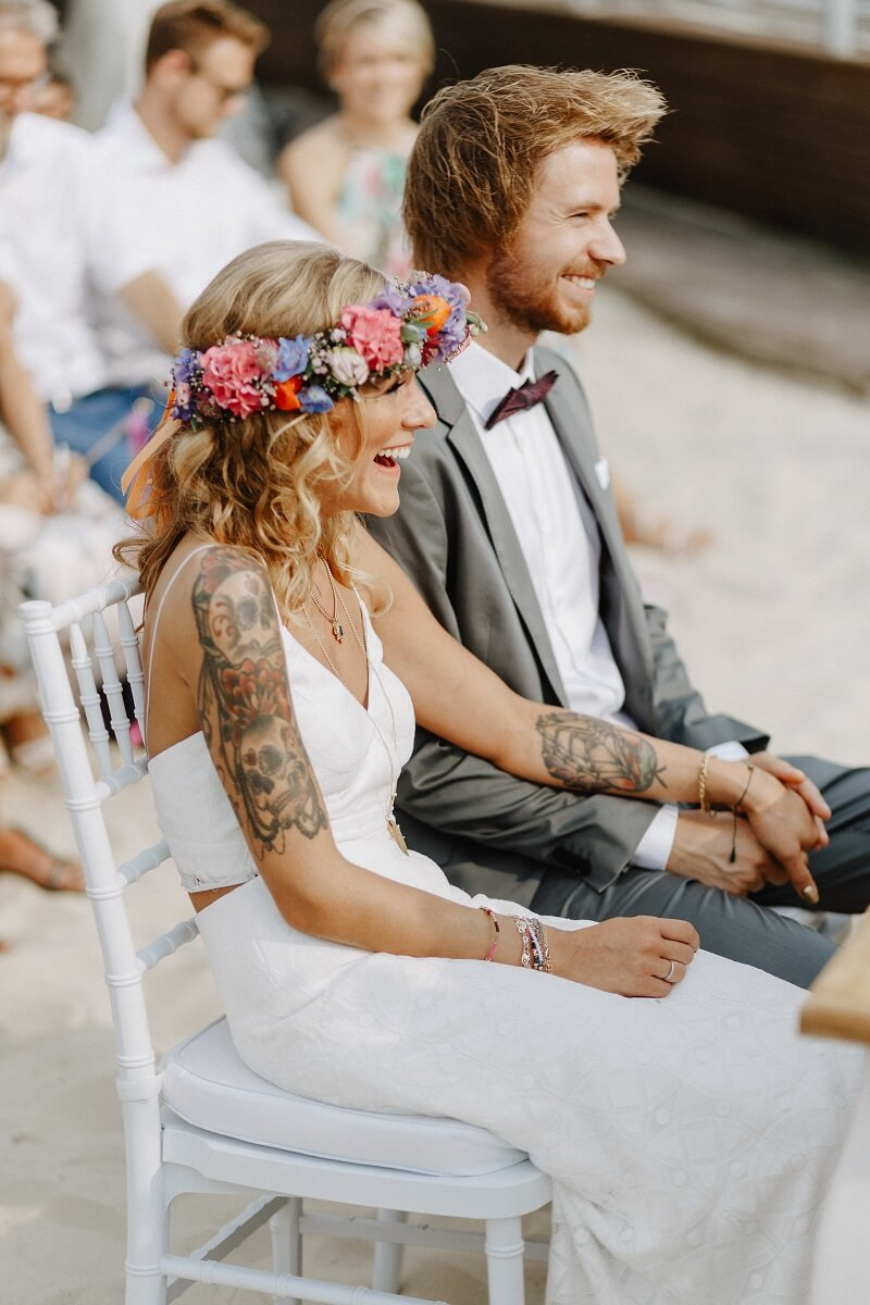 Trauung im Freien, Boho Hochzeit