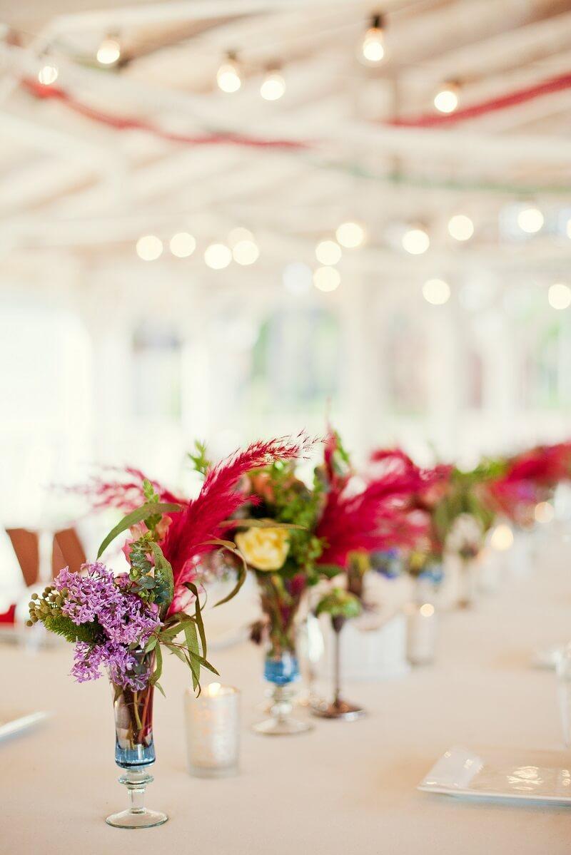 Hochzeitstischdeko Fuchsia